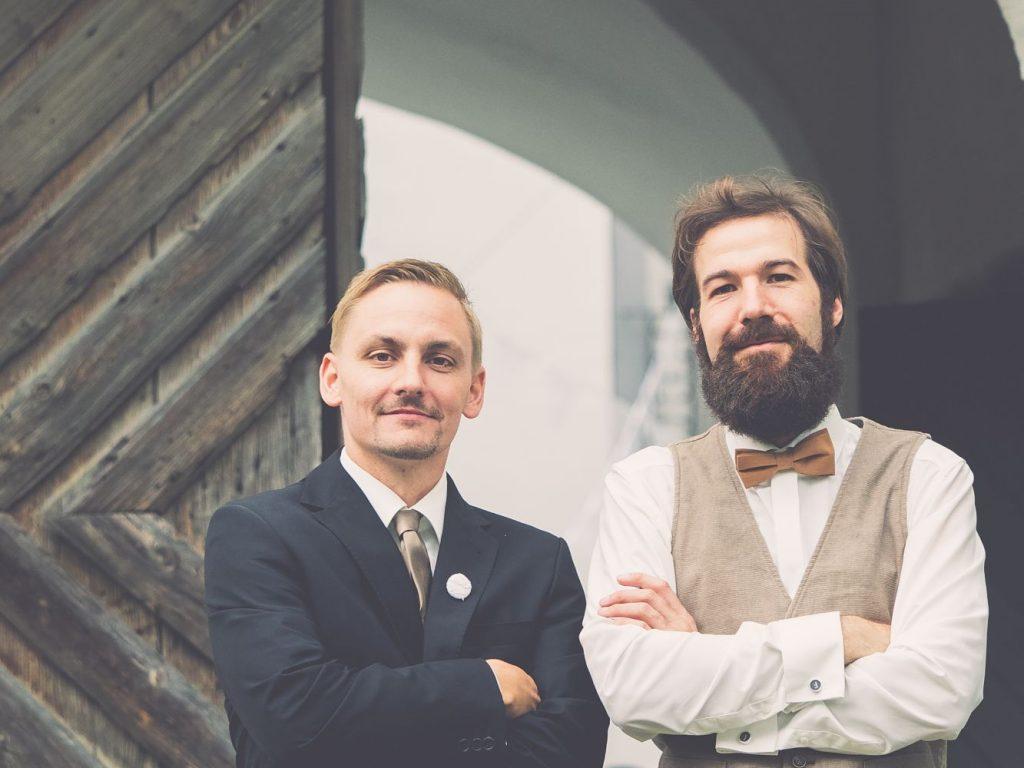 Andreas Unterberger und Josef Friedrich, die zwei Treppenprofis!