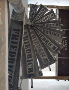 Bautreppe als Stahlspindeltreppe von Treppenbau Friedrich
