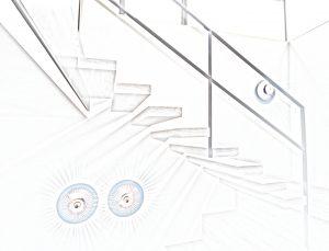 Kragarmtreppe Sitzmöbel Treppenmöbel Kubus Eiche Sonderfarbton