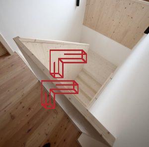 Wangenscheibe Geländerscheibe Fichte Faltwerk